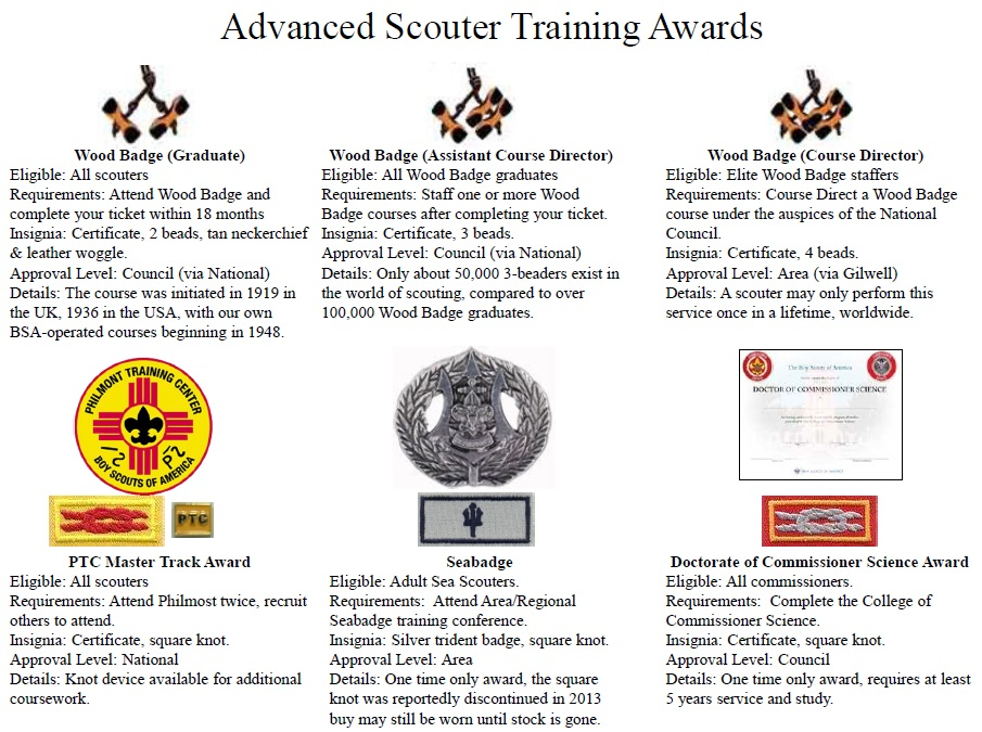 Boy scout adult awards — 7